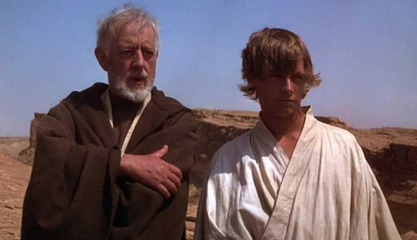 Obi-wan Kenobi y Luke Skywalker