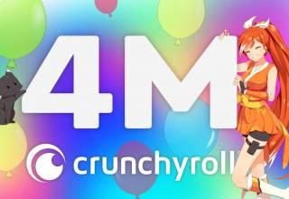 Crunchyroll 4 Million